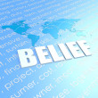 Stock Photo: Belief world map