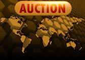 Auction world map — Stock Photo