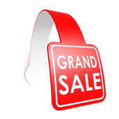 Grand sale hang label — Stock Photo