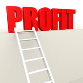 Ladder to profit — Stock Photo