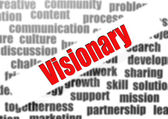 Visionary word cloud — Stock Photo