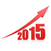 2015 growth red arrow — Stock Photo