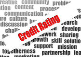 Credit Rating word cloud — Stock Photo