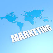 Marketing world map — Stock Photo