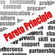 Stock Photo: Pareto principle word cloud