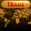 Trade world map — Stock Photo