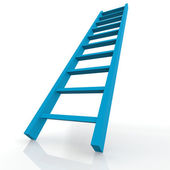 Blue ladder — Stock Photo