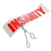 Cut insanity — Stock Photo