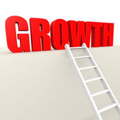 Ladder to growth — Stock Photo