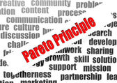 Pareto principle word cloud — Stock Photo
