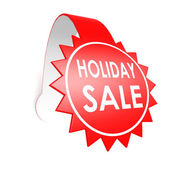 Holiday sale star label — Stock Photo