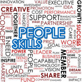 People skill word cloud — Stock Photo