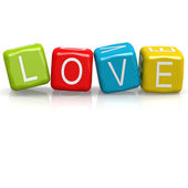 Love cube word — Foto Stock