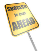 Success is just ahead road sign — Stock Photo