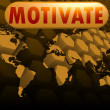 Stock Photo: Motivate world map