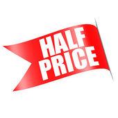 Half price red label — Stock Photo