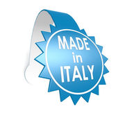 Made in Italy star label — Stock Photo