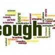 Cough word cloud — Stock Photo