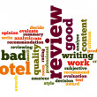 Stock Photo: Hotel review word cloud