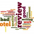 Hotel review word cloud — Stockfoto #40932669