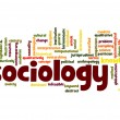 Stock Photo: Sociology word cloud