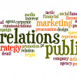 Public Relations word cloud — Stok Fotoğraf #40932717