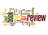Book review word cloud — Stock Photo