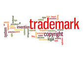Trademark word cloud — Stock Photo