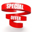 Special offer red helix banner — Stock Photo #40940815