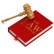 Stock Photo: Law handbook