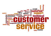 Customer support word cloud — Stock Photo