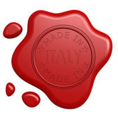 Made in Italy seal — Stock Photo