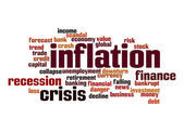 Inflation word cloud — Stock Photo