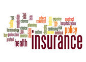 Insurance word cloud — Stock Photo