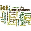 Diet word cloud — Stock Photo