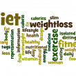 Diet word cloud — Stockfoto #41023139