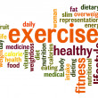 Foto de Stock  : Exercise word cloud