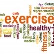 图库照片: Exercise word cloud