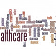 Stock Photo: Healthcare word cloud