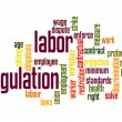 Stock Photo: Labor regulation word cloud