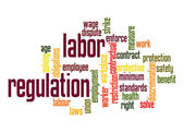 Labor regulation word cloud — Stock Photo