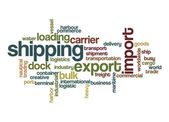 Shipping word cloud — Stock Photo