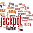 Jackpot word cloud — Foto Stock #41105225