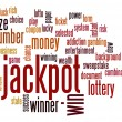 Jackpot word cloud — 图库照片 #41105225