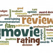 Movie review word cloud — Stockfoto #41105241