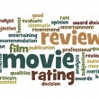 Stock Photo: Movie review word cloud