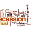 Recession word cloud — Stok Fotoğraf #41105263