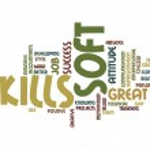 Soft skills word cloud — Stock Photo