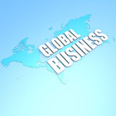 Global business world map — Stock Photo