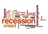 Recession word cloud — Stock Photo